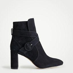 Lesley Suede Block Heel Booties | Ann Taylor (US)