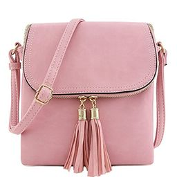 Flap Top Double Compartment Crossbody Bag with Tassel Accent   Amazon (US)