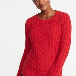 Cable-Knit Crew-Neck Sweater for Women   Old Navy US
