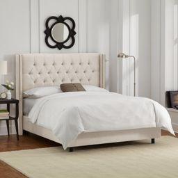 Davina Upholstered Panel Bed   Wayfair North America