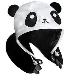 Panda Hooded Animal Plush Neck Pillow, Microbeads for Comfort with Adjustable Drawstring, Perfect Fo   Amazon (US)