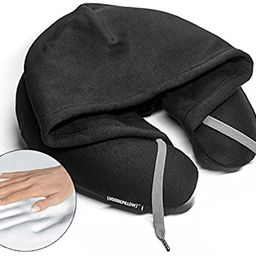 HoodiePillow Brand Memory Foam Hooded Travel Pillow - Black   Amazon (US)