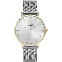 CLUSE La Bohème Mesh Gold Silver CL18115 Women's Watch 38mm Stainless Steel Strap Minimalistic Desig | Amazon (US)