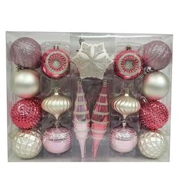 40ct Ornament Set Light Pink and Silver - Wondershop™   Target