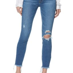 PAIGE Hoxton Ripped Ankle Skinny Jeans (Alessio Destructed) | Nordstrom