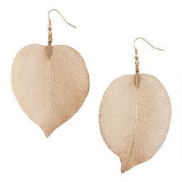 Gold Leaves Earrings   World Market