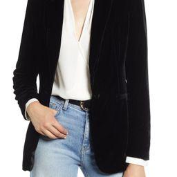 Halogen® Velvet Blazer (Regular & Petite)   Nordstrom