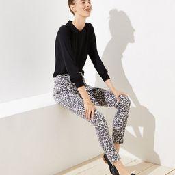 Modern Skinny Jeans in Leopard Print   LOFT   LOFT