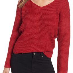 ASTR the Label Twist Back Sweater   Nordstrom