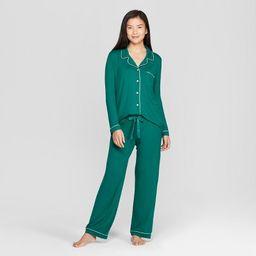 Women's Total Comfort Notch Collar Pajama Set - Gilligan & O'Malley™ | Target