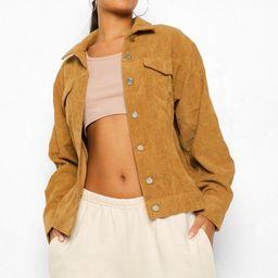 Oversize Cord Jacket | Boohoo.com (US & CA)
