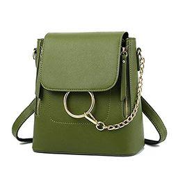HENGSHENG Fashion Women Crossbody Backpack Purse Small Pu Leather Shoulder Bag Ladies Cute Chain Sat | Amazon (US)