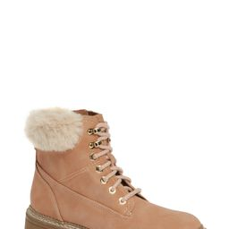 Steve Madden Alaska Lace-Up Bootie with Faux Fur Cuff (Women) | Nordstrom