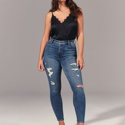 Ripped High Rise Super Skinny Jeans | Abercrombie & Fitch US & UK