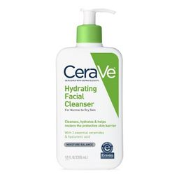 CeraVe Hydrating Facial Cleanser for Normal to Dry Skin, Fragrance Free - 12oz | Target