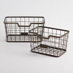 Espresso Wire Samuel Baskets | World Market