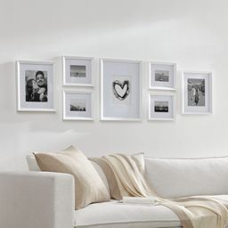 Icon White Frame Gallery, Set of 7 | Crate & Barrel