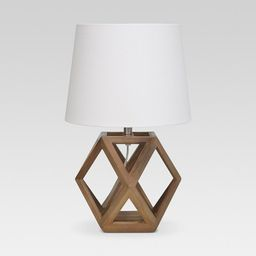 Geometric Wood Figural Accent Lamp Brown - Threshold™ | Target