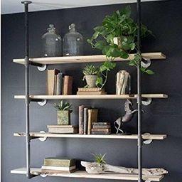 Industrial Retro Wall Mount Iron Pipe Shelf Hung Bracket Diy Storage Shelving Bookshelf (3pcs) | Amazon (US)