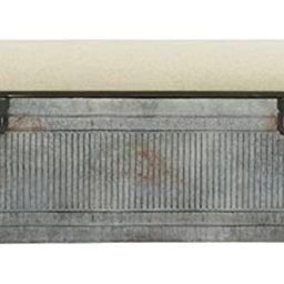 Deco 79 60966 Metal and Fabric Storage Bench, Kamia 4-Tier Shoe Rack, Rustic Gray | Amazon (US)