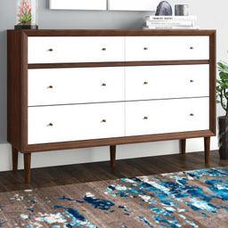Sunset 6 Drawer Double Dresser | Wayfair North America