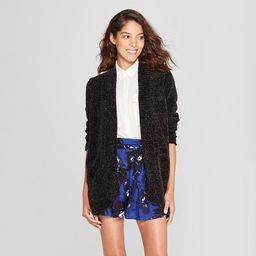 Women's Chenille Open Cardigan - A New Day™ Gold M | Target