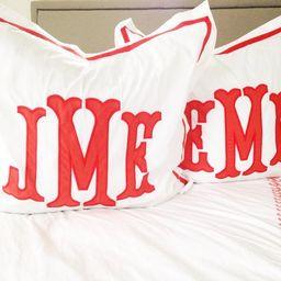 Monogram Applique Sham / Monogrammed Sham / Pillowcase / Bedding   Etsy (US)