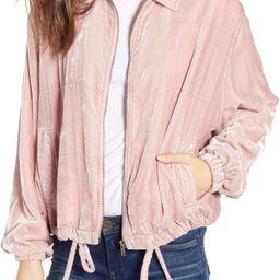 BB Dakota Chillax Velvet Jacket | Nordstrom