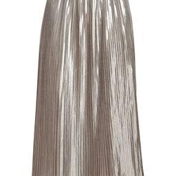 Metallic Pleated Midi Skirt   Banana Republic US