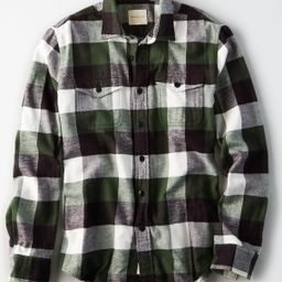 AE Seriously Soft Flannel, Green   American Eagle Outfitters (US & CA)