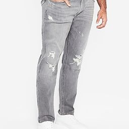 Slim Gray Destroyed Stretch+ Jeans   Express