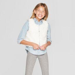 Girls' Faux Fur Vest - Cat & Jack™   Target