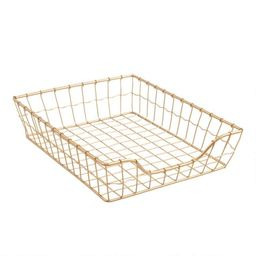 Gold Wire Antonia Paper Tray | World Market