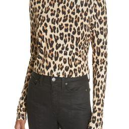 Alice + Olivia Delaina Leopard Print Crop Top | Nordstrom