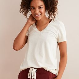 Aerie Real Soft® V-Neck Tee, Heather Frost   American Eagle Outfitters (US & CA)