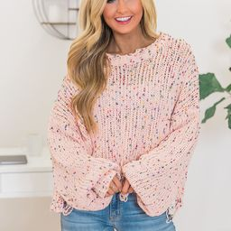 Can't Doubt My Love Sweater Pink   The Pink Lily Boutique