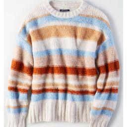 AE Multi-Stripe Pullover Sweater, Cream   American Eagle Outfitters (US & CA)