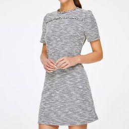 Textured Short Sleeve Shift Dress | LOFT Outlet