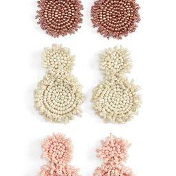BaubleBar Set of 3 Rianne Beaded Drop Earrings   Nordstrom