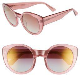 DIFF Luna 54mm Polarized Round Sunglasses   Nordstrom