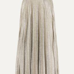 Sunshine pleated stretch-Lurex midi skirt   Net-a-Porter (US)