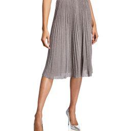Tilli Pleated Metallic Pull-On Skirt   Neiman Marcus