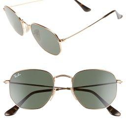 Ray-Ban 51mm Hexagonal Flat Lens Sunglasses   Nordstrom
