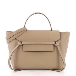 Buy Celine Belt Bag Grainy Leather Mini Neutral 380398   Rebag