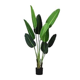CozyBox Artificial Plants for Home Decor Indoor Outdoor Fake Travelers Palm Tree for Home Office Sto | Amazon (US)