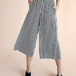 Mid Rise Striped Culottes | Express
