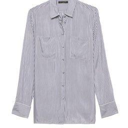 Parker Tunic-Fit Stripe Shirt   Banana Republic US