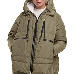 FADSHOW Women's Winter Down Jackets Long Down Coats Warm Parka with Hood   Amazon (US)