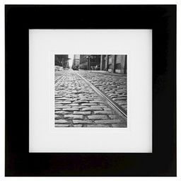 """Gallery Solutions Matted 8"""" x 8"""" Frame - Black 