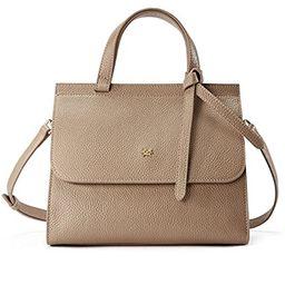 EMINI HOUSE Women Fashion Bowknot Handle Bag with Buckle Closure Litchi Grain Genuine Leather Handba   Amazon (US)